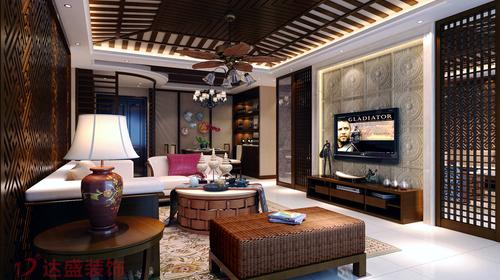 世纪星城28幢客厅东南亚